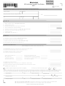 Form 80-110-17-8-1-000 - Mississippi Ez Individual Income Tax Return - 2017