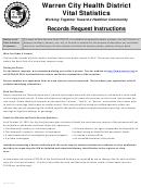 Application For Certified Copies - Warren City Health District