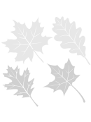 Shades Of Gray Leaf Template Set
