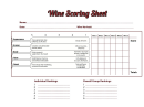 Wine Scoring Sheet