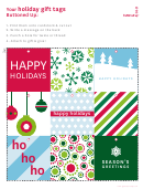 Holiday Gift Tag Template Set