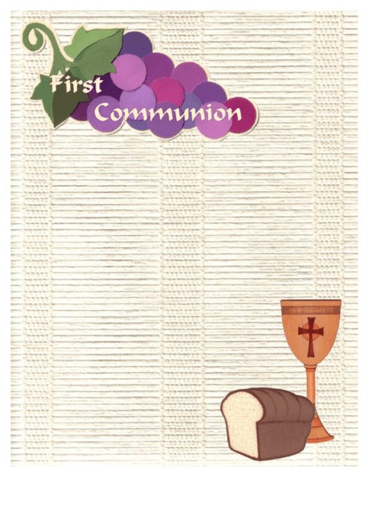 First Communion Stationery Templates