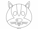 Rabbit Coloring Mask Template