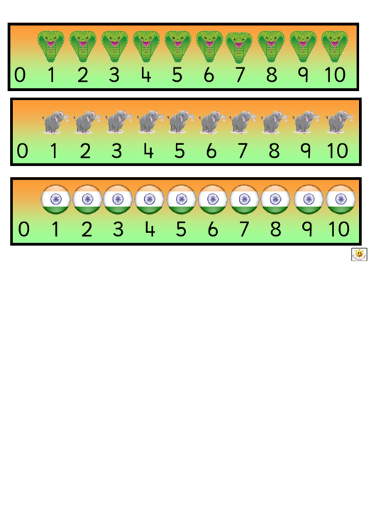 Indian Style Number Line Template