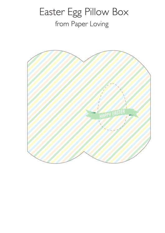 Easter Egg Pillow Box Template