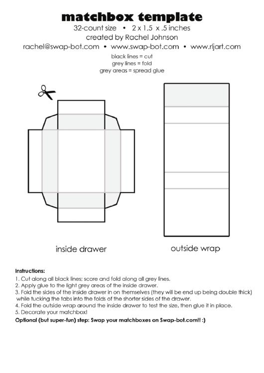 matchbox template printable pdf download