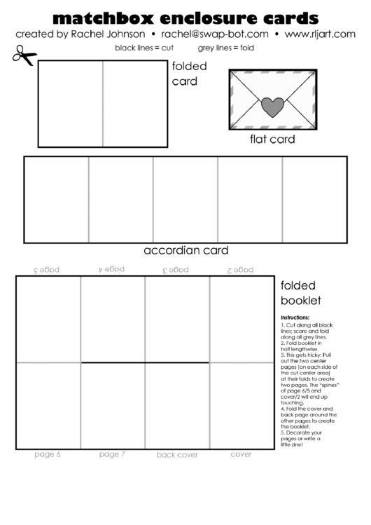 image regarding Matchbox Template Printable named Matchbox Enclosures Card Template printable pdf down load