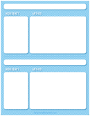 Blue Check Recipe Pages Template