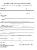Gross Receipts For The Twelve (12) Months Ending June 30, 2011 Form - South Carolina Public Service Commission