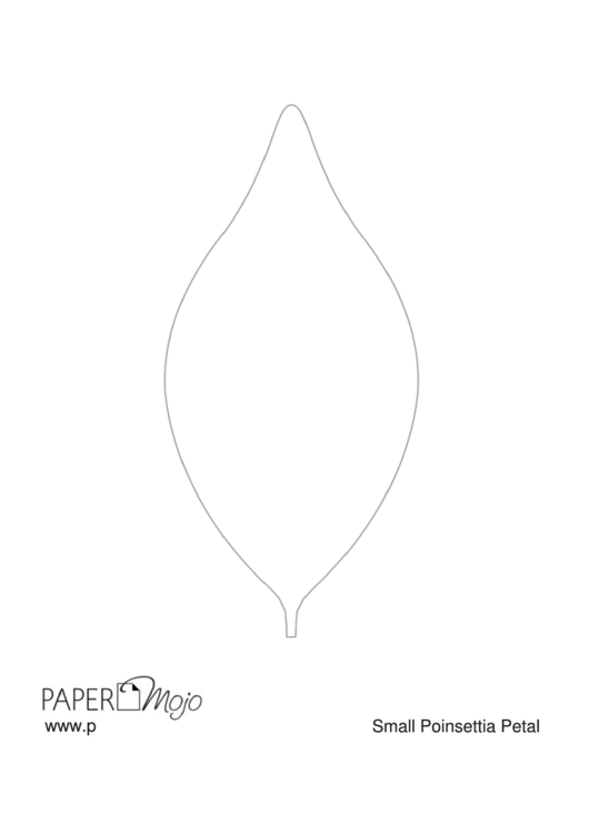 Small Poinsettia Petal Template Printable Pdf Download
