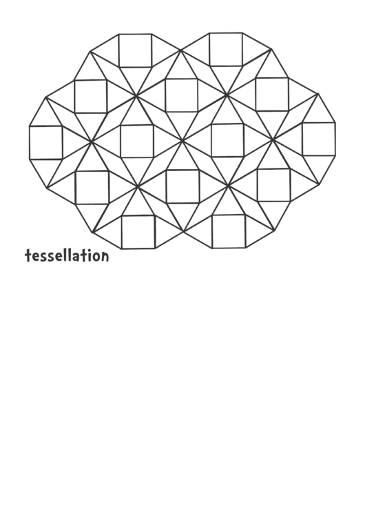 tessellation black and white pattern block template