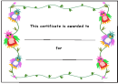 Kids Award Certificate Template - Colorful Birds