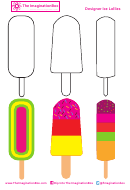 Black And White And Colored Ice Cream Templates