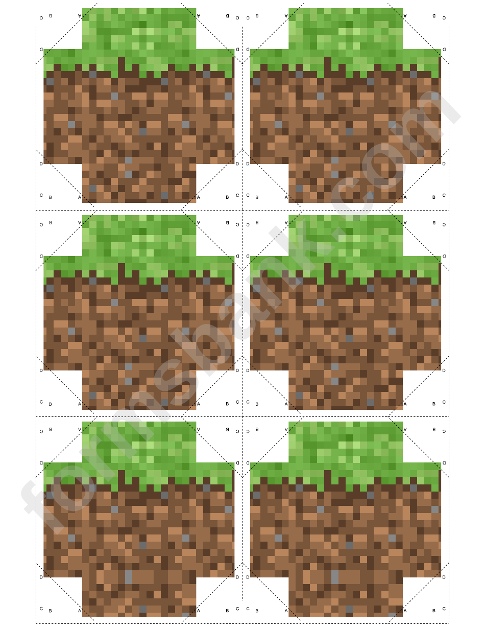 graphic relating to Minecraft Printable Blocks named Gr Minecraft Block Template printable pdf obtain