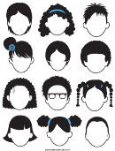 Black & White Face Template Set