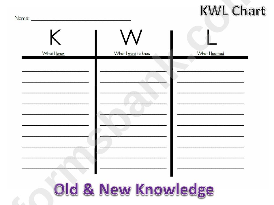 Black & White Kwl Chart