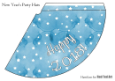 2018 (in Blue, Yellow And Rose) New Years Hat Template