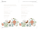 Birds And Flowers Invitation Template