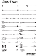Black And White Dividers & Arrows Valentines Day Border Template Set