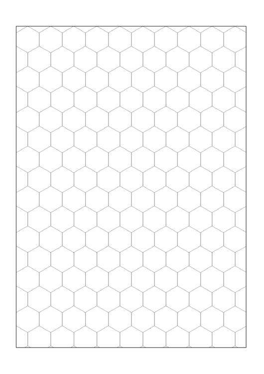 Black & White Hexagon Graph Paper Template
