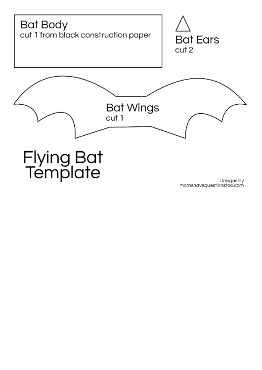 Flying Bat Template