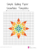 Quilling Paper Snowflake Grid And Templates