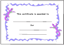 Kids Award Certificate Template - Pruple Lizards