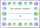 Kids Award Certificate Template - Color Circles Border