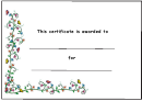 Kids Award Certificate Template - Small Butterflies And Flowers
