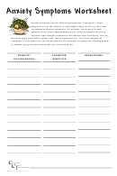 Anxiety Symptoms Record Therapy Notes Template
