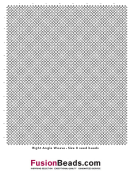 Right Angle Weave - Size 8seed Beading Graph Paper