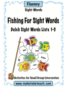 Fishing For Sight Words Activity Sheets
