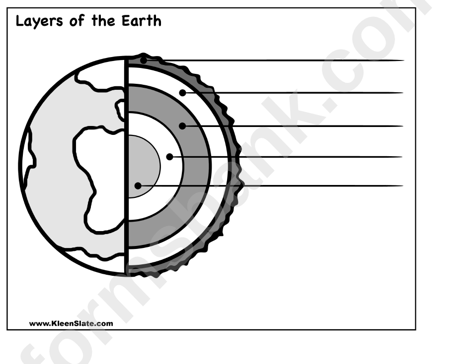 Layers Of The Earth Worksheet Printable Pdf Download