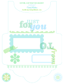 Envelope Writing Sheet - Just For You, Blue
