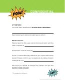 Super Hero Training Invitation Template