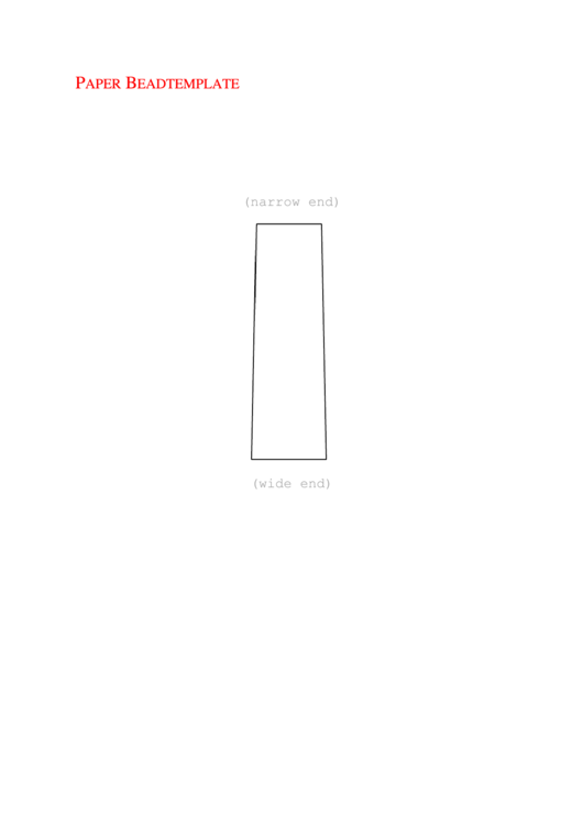 graphic regarding Printable Paper Bead Templates called Paper Bead Template printable pdf down load