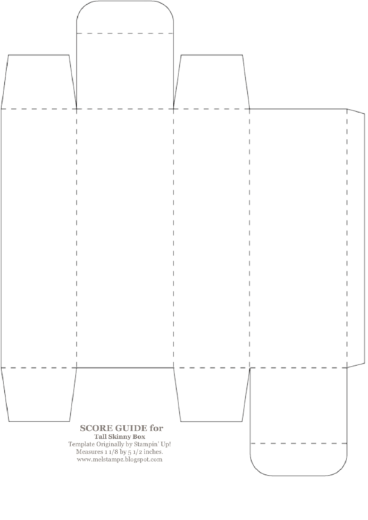 5 1/2 Inch Tall Skinny Box Template