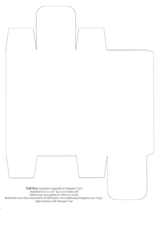 5 1/2 Inch Tall Box Template