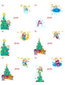 Angel Theme Christmas Label Template Set