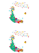 Angel & Christmas Tree Label Template