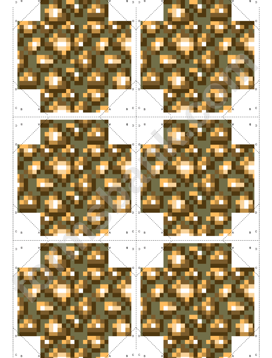 image about Minecraft Blocks Printable named Glowstone Minecraft Block Template printable pdf down load