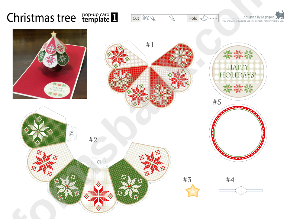 Christmas Tree Pop-Up Card Template