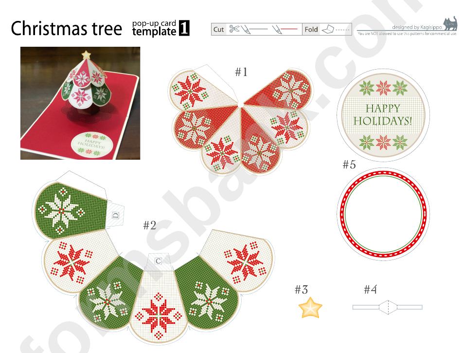Christmas Tree Pop-Up Card Template
