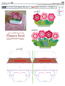 Flower Bed Pop-up Card Template