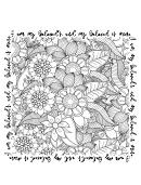 Floral Coloring Sheet