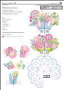 Flower Basket Pop-up Card Template