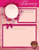 February Calendar & Names List Template