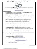 Limited Partnership Instructions
