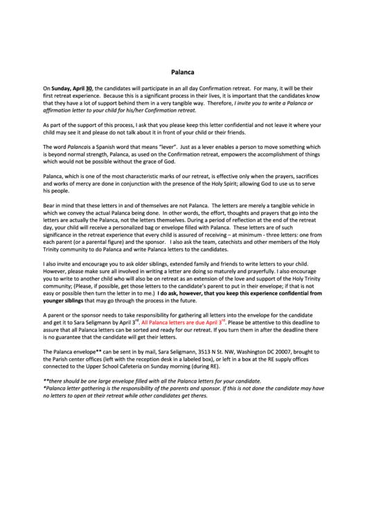 palanca letters sample printable pdf download