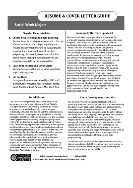Resume & Cover Letter Guide Printable pdf